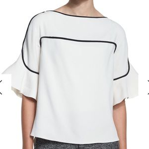 See by Chloe Crepe Bell-Sleeve Top, Off White